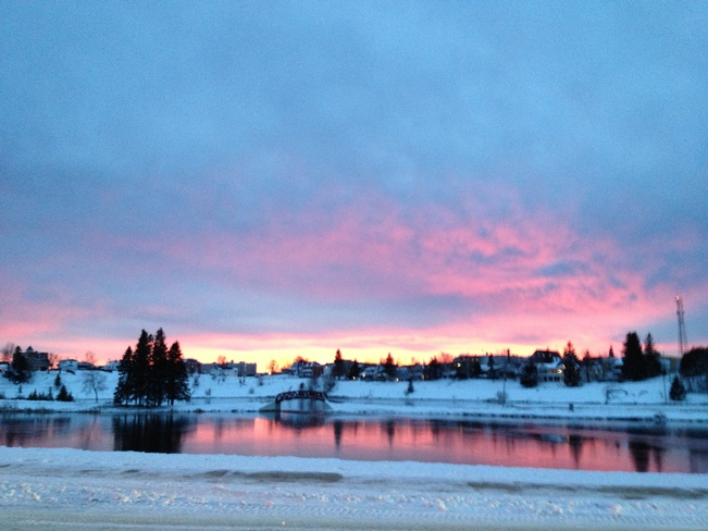 November Sunset... Wow!!! Cochrane, Ontario Canada