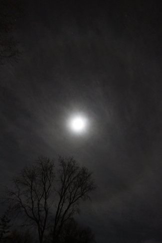 Ring Around The Moon Winnipeg, Manitoba Canada