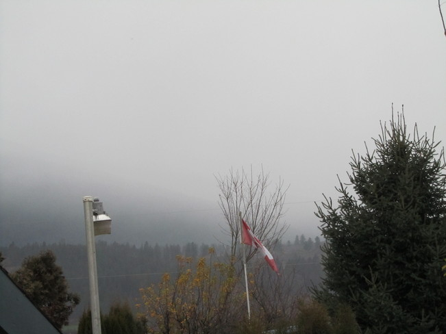 cool, rainy and breezy Vernon, British Columbia Canada