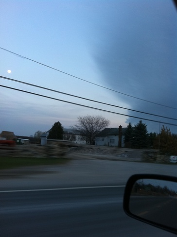 front coming in Collingwood, Ontario Canada
