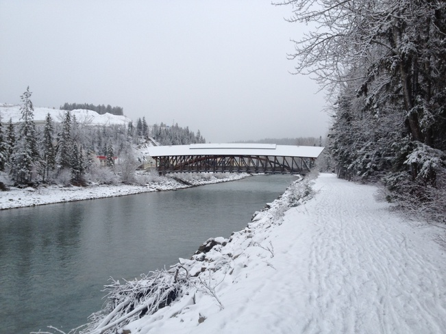 snowfall in Golden Golden, British Columbia Canada