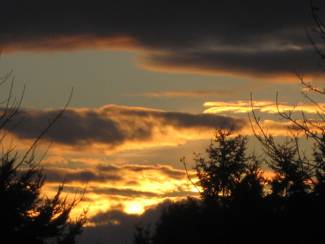 fire in the sky Surrey, British Columbia Canada