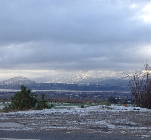 a nice snow covered city Kelowna, British Columbia Canada