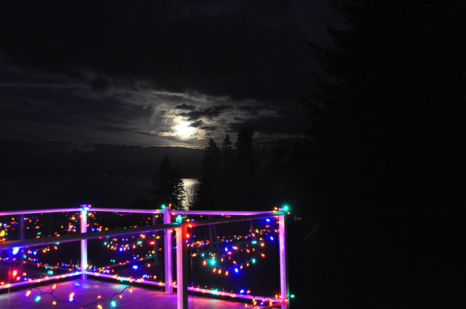 Full moon over the Salish Sea Nanaimo, British Columbia Canada
