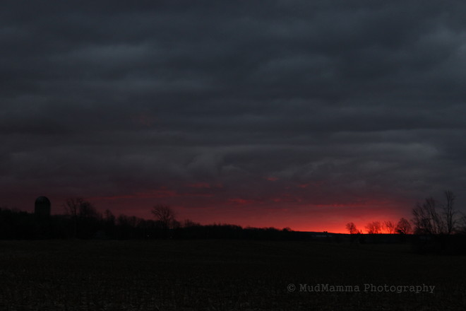 Red Sky Warning Brussels, Ontario Canada
