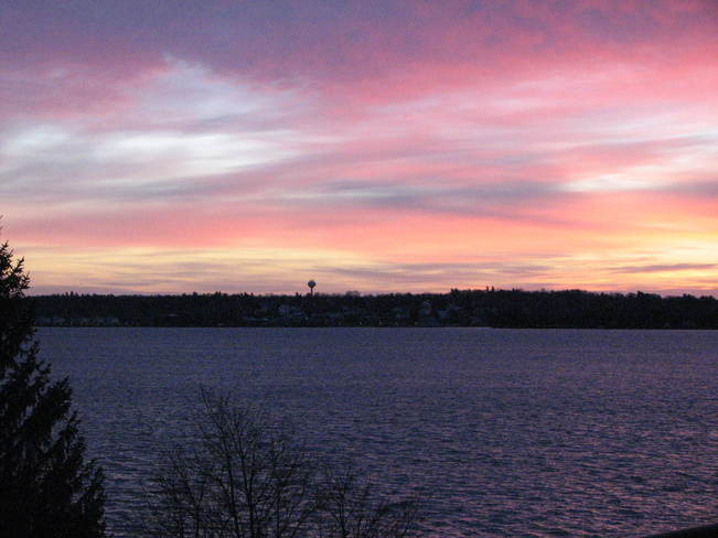 Sunrise over Morristown NY Brockville, Ontario Canada