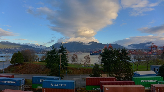 November Morning View Vancouver, British Columbia Canada