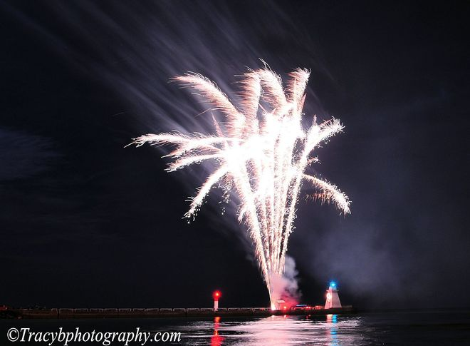 Fire works. Port Dover, Ontario Canada