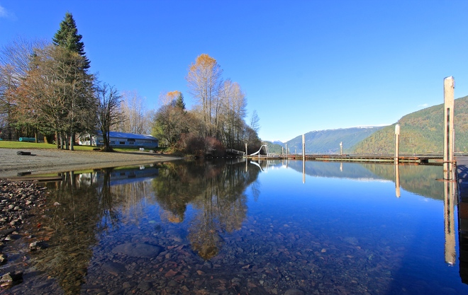 A beautiful 2 degree afternoon on the Cowichan lake Lake Cowichan, British Columbia Canada