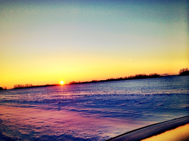 Sturgeon County sunrise St. Albert, Alberta Canada