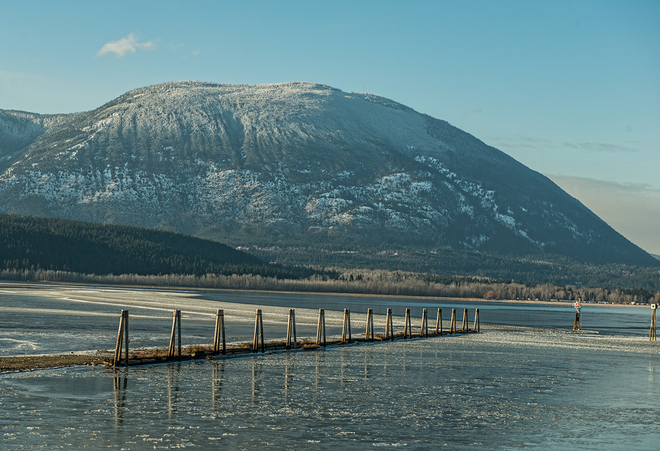 Icy cold weather returns Salmon Arm, British Columbia Canada