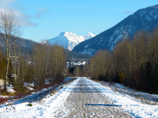 winter walking Revelstoke, British Columbia Canada