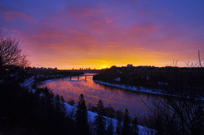 nice view ....cool light Edmonton, Alberta Canada