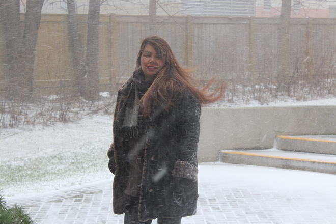My First Snow Experience in Toronto, Canada North York, Ontario Canada