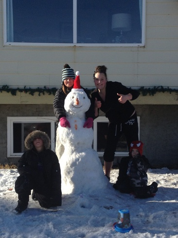 snow man weather Calgary, Alberta Canada