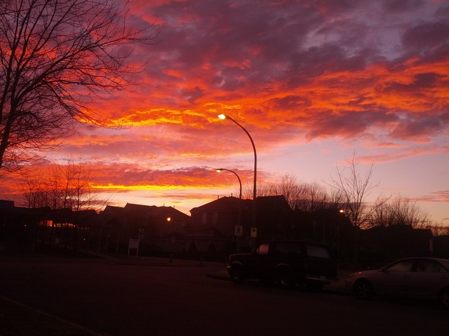 Sunrise Fire Richmond, British Columbia Canada