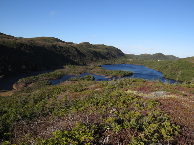 The Hills and ponds off home Rock Harbour, Newfoundland and Labrador Canada