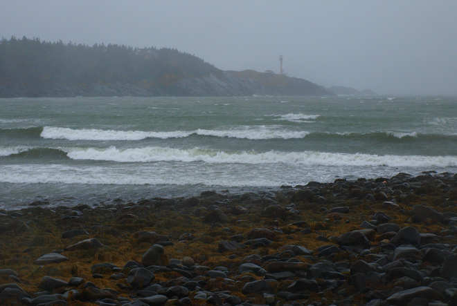 High winds, rain and breakers! Yarmouth, Nova Scotia Canada