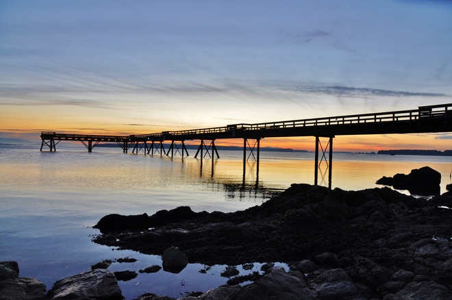 PIER BEFORE SUNRISE Sidney, British Columbia Canada