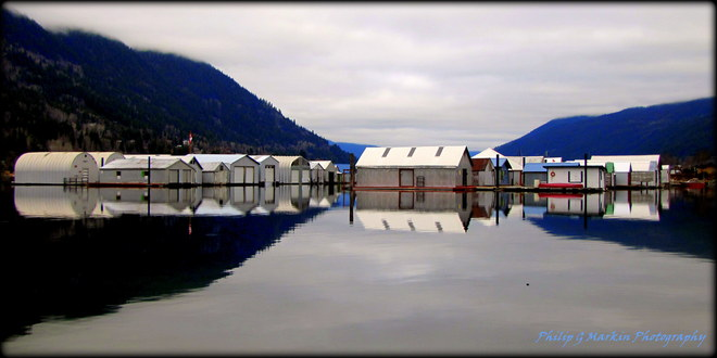 Nelsons Boathouses Nelson, British Columbia Canada