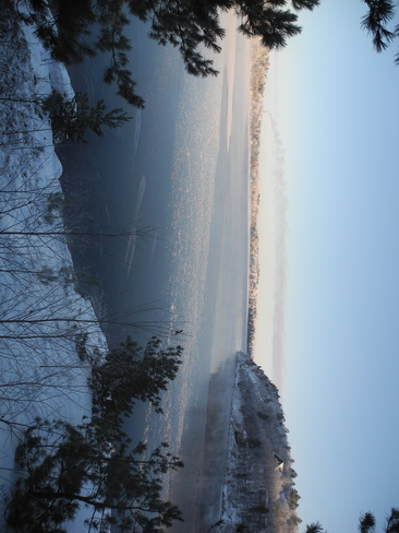 Clearwater Lake Sparkle Ice Greater Sudbury, Ontario Canada