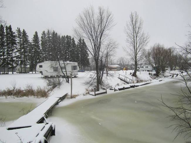 Winter time at Cardinal Park and Marina In Lavigne Ontario Lavigne, Ontario Canada