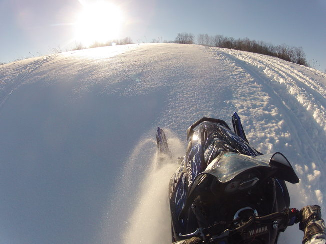 Snowmobiling Blue Mountain, Ontario Canada