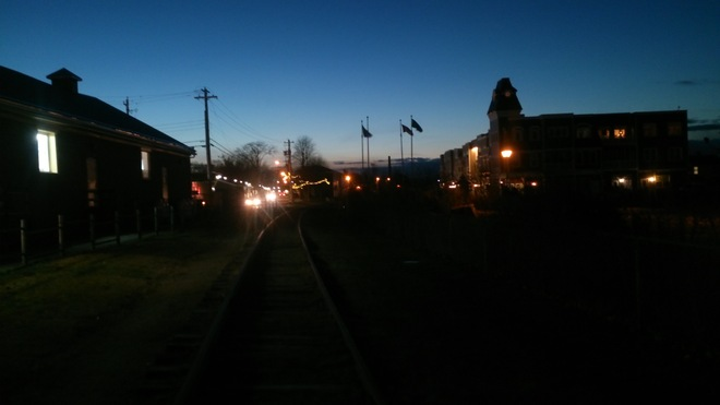 Wolfville evening at Railtown Wolfville, Nova Scotia Canada