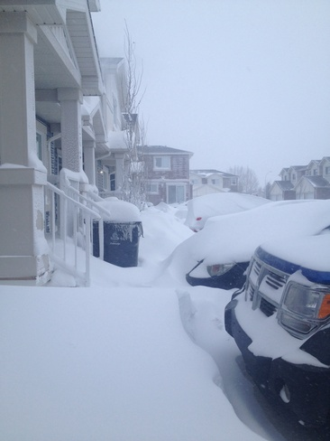 snowed in Lethbridge, Alberta Canada