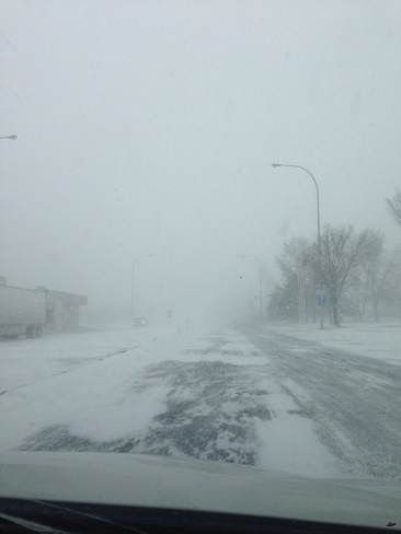 blizzard Claresholm, Alberta Canada