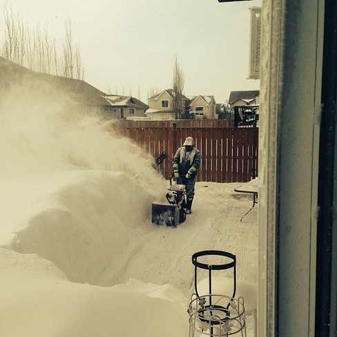 Now thats alot of snow! Strathmore, Alberta Canada