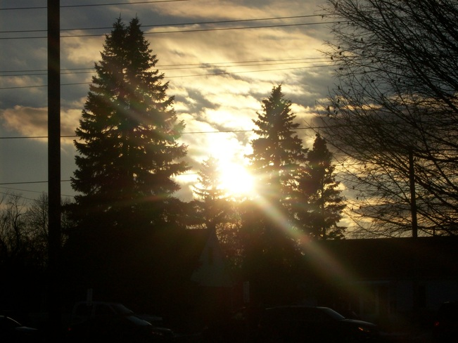 Loevly afternoon sun across from Sidney street Belleville, Ontario Canada