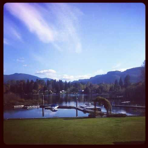 Beauty october weather Lake Cowichan, British Columbia Canada