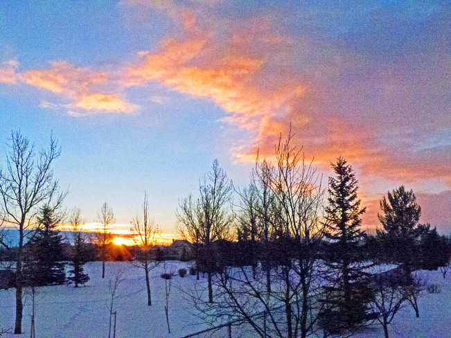 Sunrise After the Blizzard Lethbridge, Alberta Canada