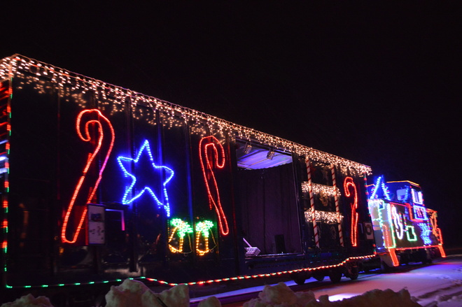 Christmas Train Stage Cobalt, Ontario Canada