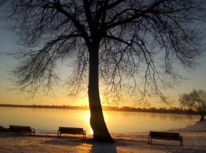 Sunrise at the park Orillia, Ontario Canada