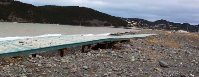 Aftermath of Seasurge Placentia, Newfoundland and Labrador Canada
