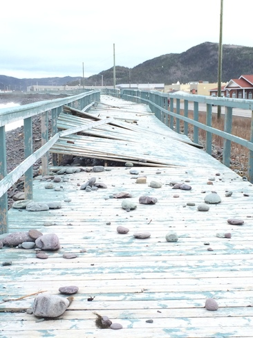 Boardwalk ripped up Placentia, Newfoundland and Labrador Canada