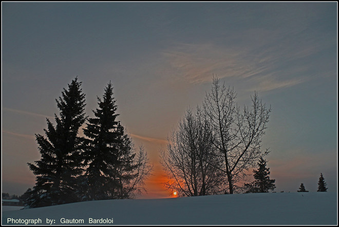 Beautiful Sunrise Edmonton, Alberta Canada
