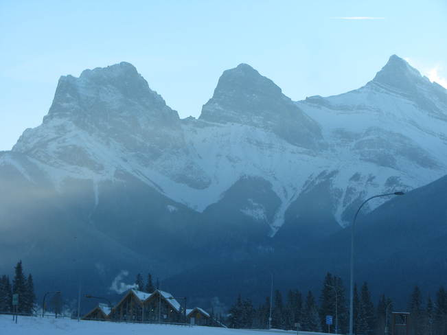 So cold you can see it Canmore, Alberta Canada