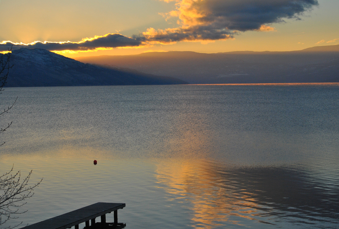 December Dock Stillness South Kelowna, British Columbia Canada