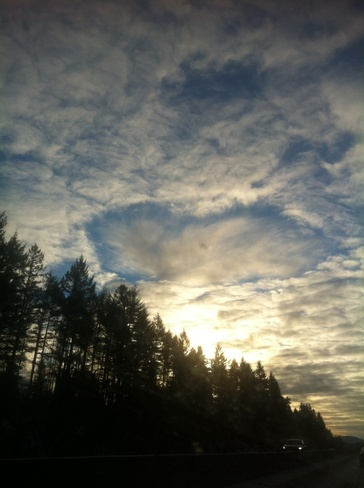 weird cloud formation Malahat 11, British Columbia Canada
