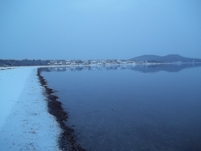 Snow On The Beach Birchy Bay, Newfoundland and Labrador Canada
