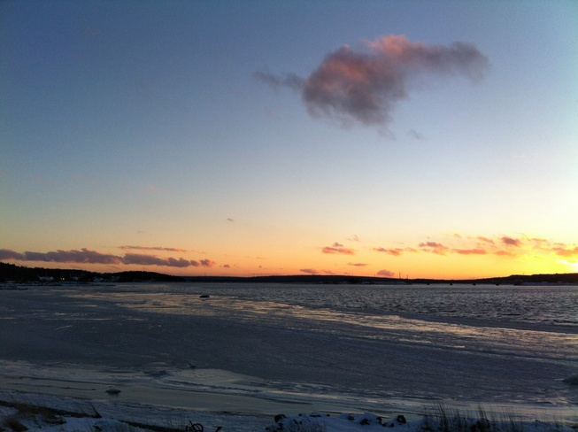 Freezing Sunset Gander, Newfoundland and Labrador Canada