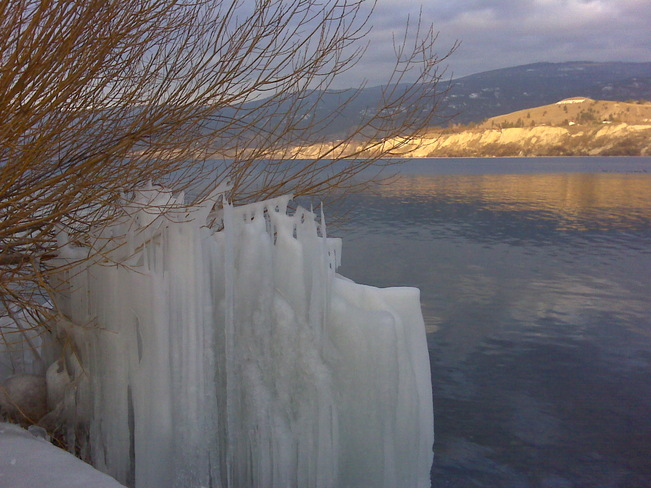 Frozen art Penticton, British Columbia Canada