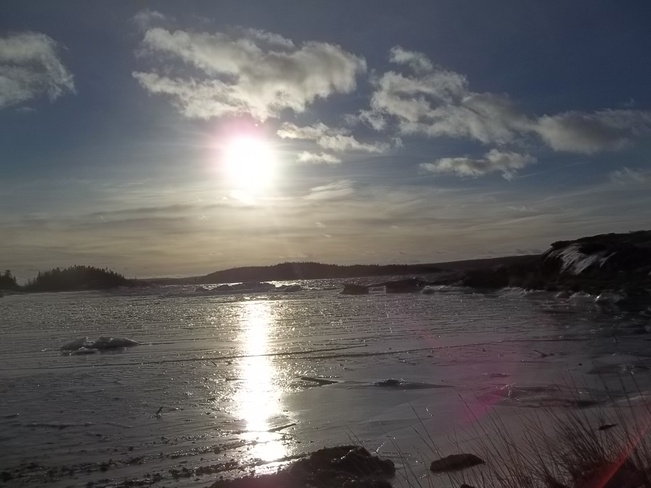 Freezing Over Birchy Bay, Newfoundland and Labrador Canada