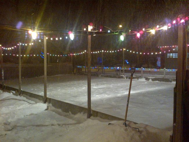 Embracing the Snow on our Ice Rink Woodbridge, Ontario Canada