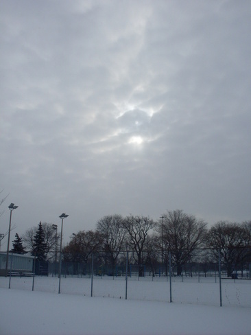 Sky after the snowstorm Scarborough, Ontario Canada