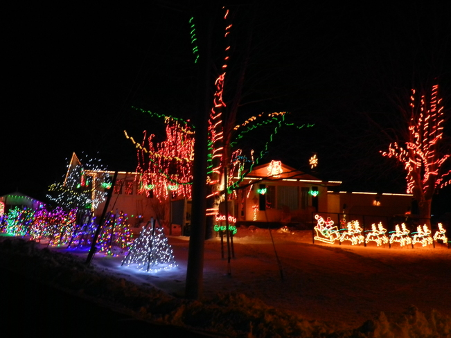 Beautiful Christmas Light arrangement Charlottetown, Prince Edward Island Canada
