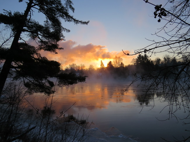 Sunrise on a Cold Morning Espanola, Ontario Canada